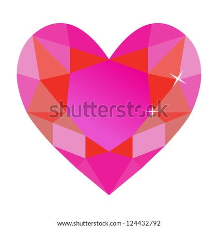 Retro Heart Stone Design, Vector Illustration - stock vector