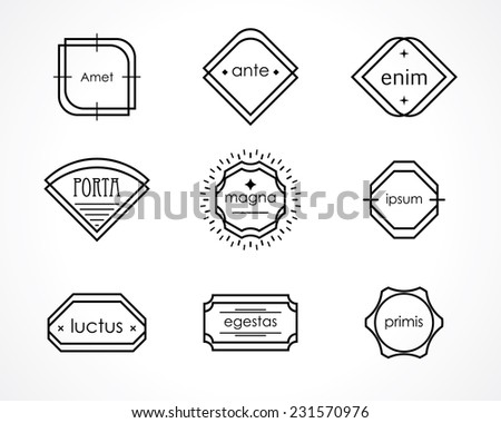 retro hipster badges and labels. vector vintage element set - stock vector