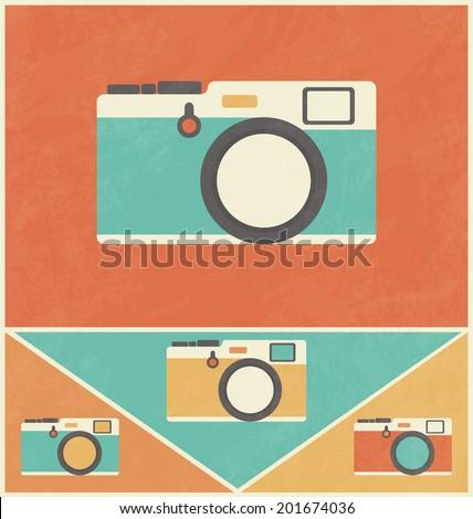 Retro Icon Design - Camera - stock vector