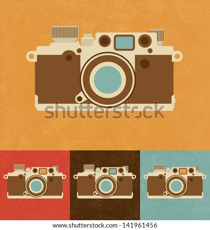 Retro Icons - Camera - stock vector