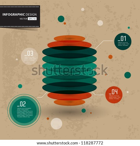 retro infographic template. Vector illustration EPS10