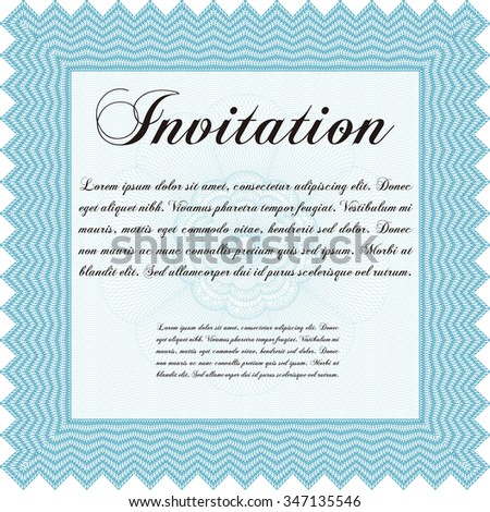 Retro invitation template. Customizable, Easy to edit and change colors.Elegant design. With linear background.
