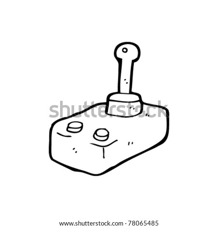 retro joystick cartoon - stock vector