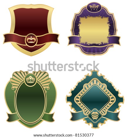 retro labels - original design - stock vector