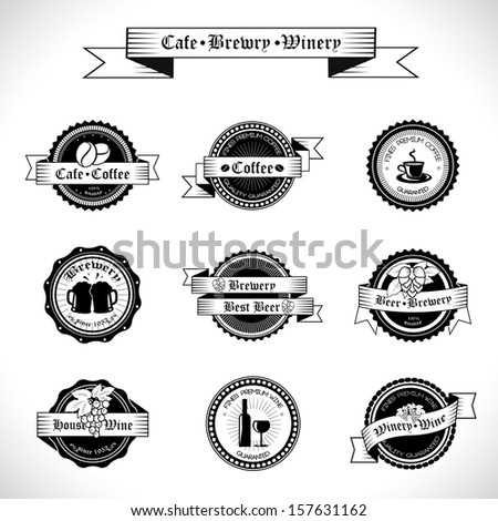Retro Labels Set - Isolated On White Background - Vector Illustration, Graphic Design Editable For Your Design. - stock vector