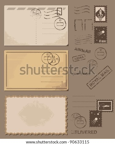 retro letters - stock vector