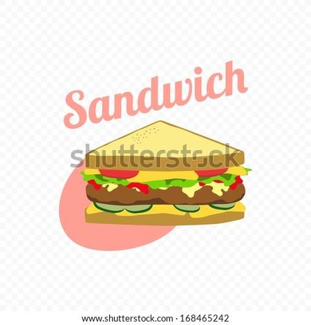 Retro Look Sandwich - stock vector