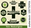 Retro Medical Labels - stock vector