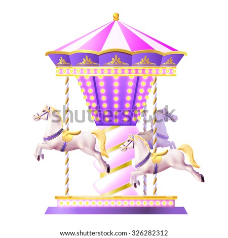 Merry go round stock photos royalty free images vectors for Merry go round horse template