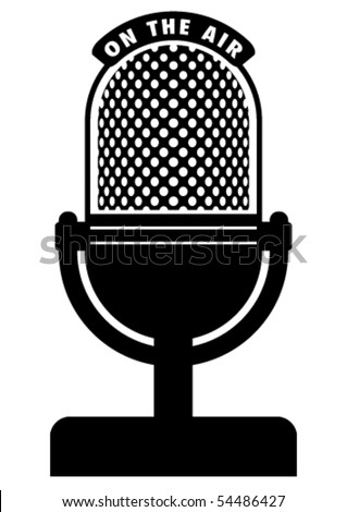 Retro Microphone Stock Vector (Royalty Free) 54486427 ...