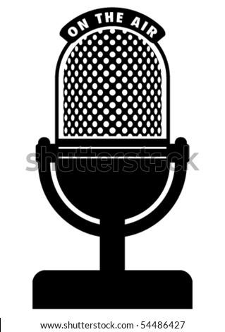 Retro microphone. - stock vector