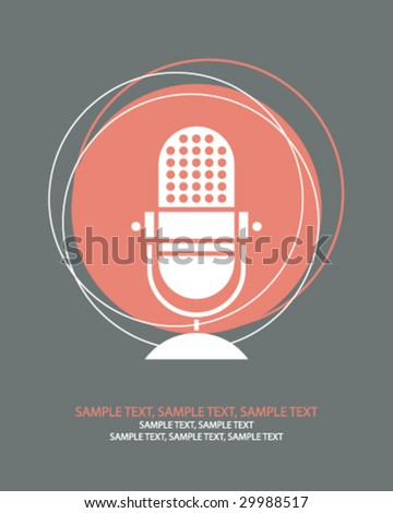 retro microphone n - stock vector