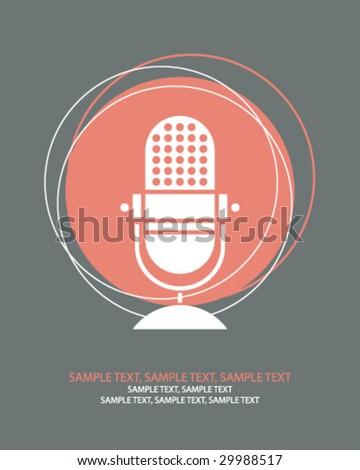 retro microphone n - stock vector