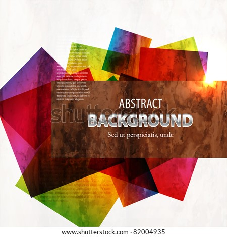 Retro modern abstraction in color. Abstract Vector Background - stock vector