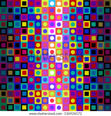 Retro Modern Sixties Op Art Background - stock vector
