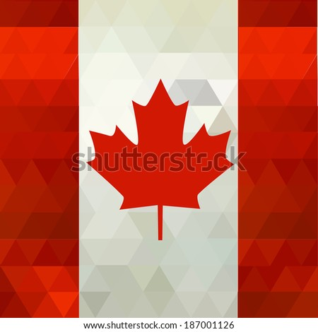 Retro mosaic pattern flags of Canada