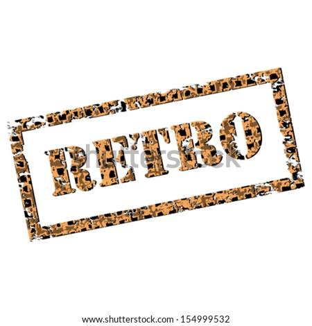 Retro motel sign. Grunge vector text.  - stock vector