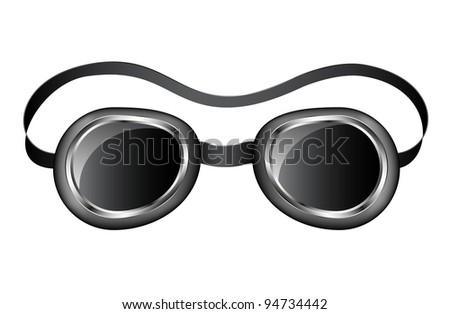 Goggles Vector Goggles Stock Vector
