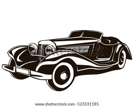 retro muscle car vector illustration vintage stock vector hd rh shutterstock com classic car vector image classic car vector free download