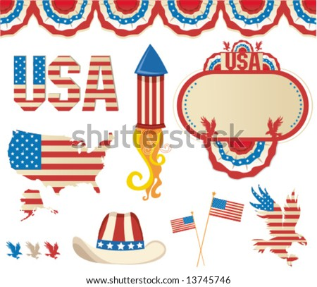 Retro National American symbolics. To see similar, please VISIT MY GALLERY.