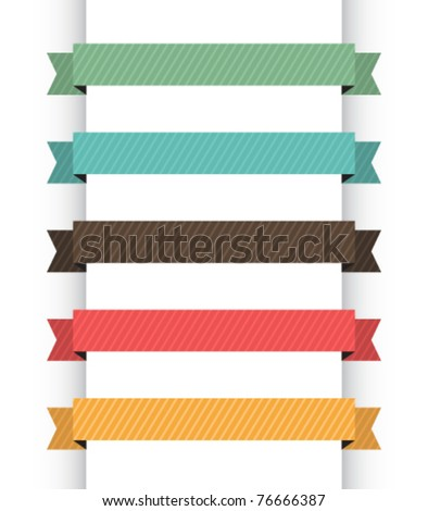 Retro navigation banners - stock vector