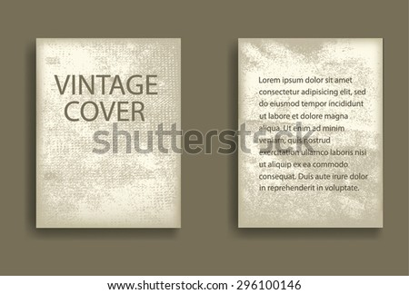 Retro Old Paper. Abstract Grunge Distressed Textured Flyers, Brochures or Posters. - stock vector