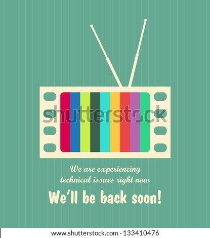 Retro out of order TV background. EPS10 vector. - stock vector