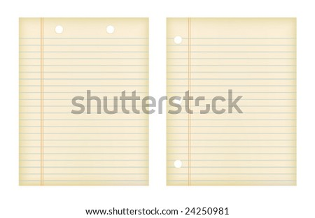 Retro Papers (JPG and Vector versions of this file both available in my portfolio) - stock vector