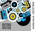 Retro Party Background - stock vector