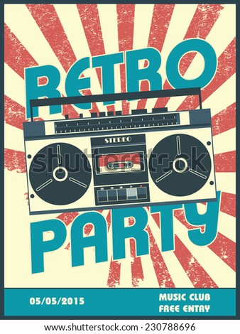 Laundry room service vector poster retro image vectorielle for Classic house party songs