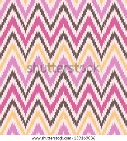 Retro pattern in bright color. Beautiful chevron texture. Abstract seamless zig zag pattern. Classic background. Background for your design. - stock vector
