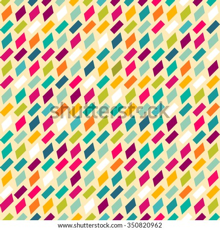 Retro pattern of geometric shapes. Colorful mosaic backdrop. Geometric retro background. Abstract background. - stock vector