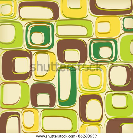 Retro pattern vector - stock vector