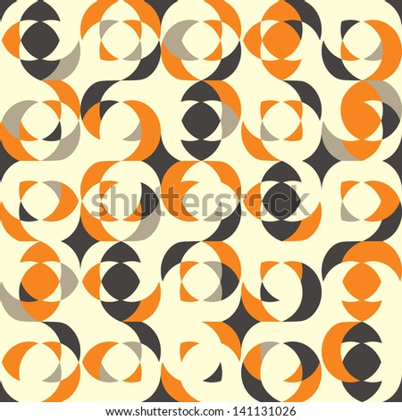 Retro pattern with sphere elements. Vector illustration - stock vector