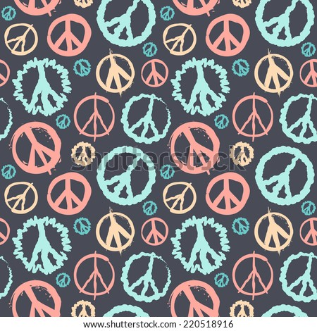 Retro Peace symbol seamless for your business - stock vector