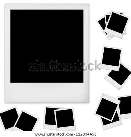Retro photo frame isolated on white background. Vector illustration - stock vector