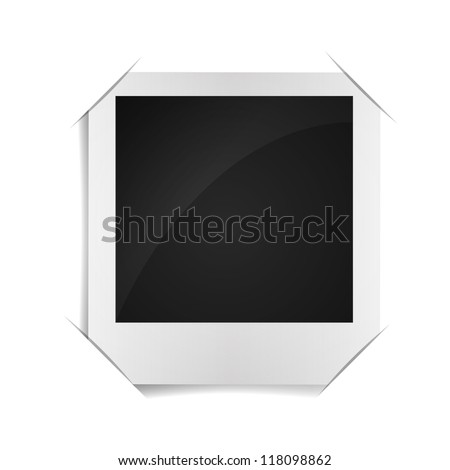 retro photo frame on paper background - stock vector