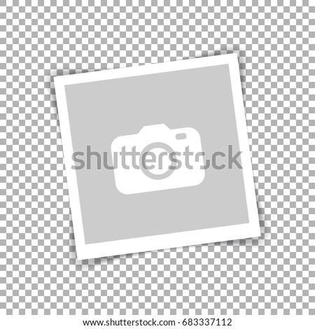 Retro photo frame with shadows. Vector illustration