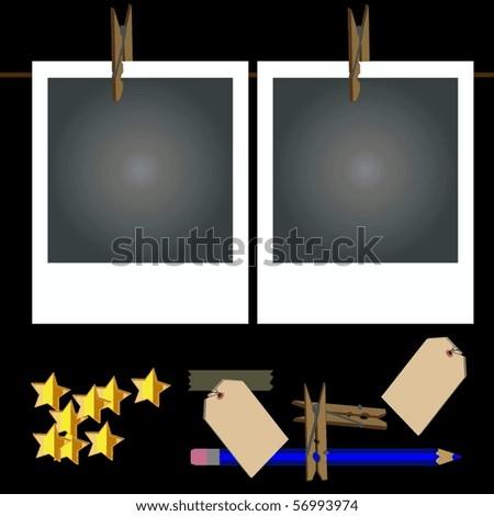 Retro Photo Frames - stock vector