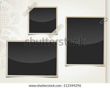 Retro photos - stock vector