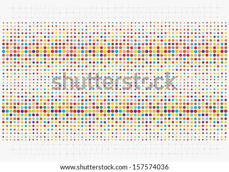 retro polka dots background - stock vector