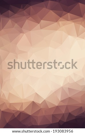 Retro polygonal background. Triangles background for your design - stock vector
