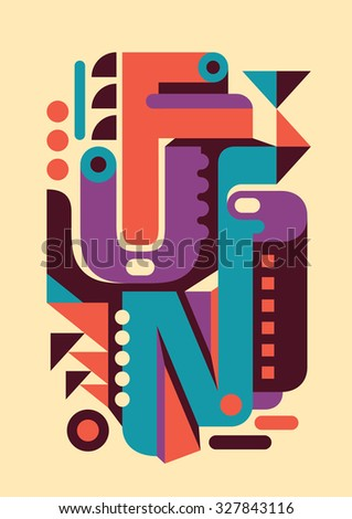 Retro poster with typography. Vector illustration. - stock vector