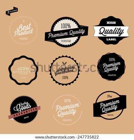 Retro Premium Quality Labels Set