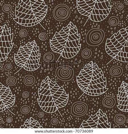 retro rainy seamless pattern - stock vector