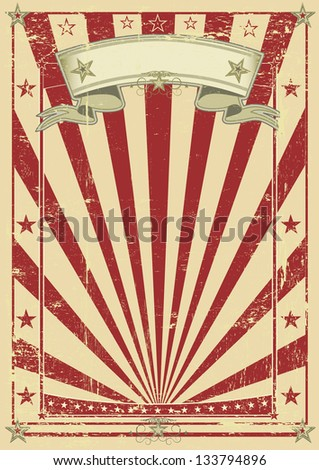 retro red poster. A vintage red background for your message.
