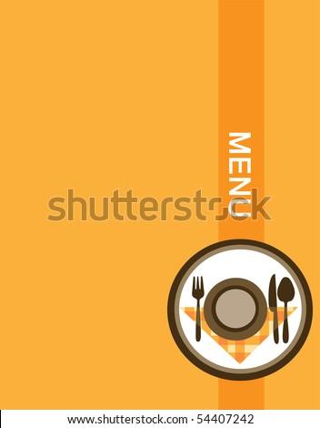retro restaurant menu design template - stock vector