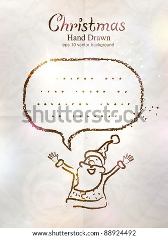 Retro Santa Claus with bubble in Christmas - stock vector