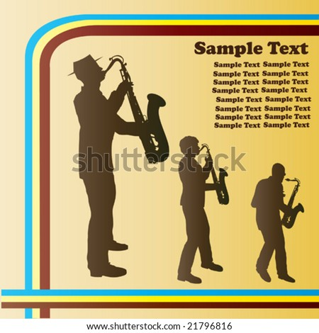 Retro Sax Vector Background - stock vector