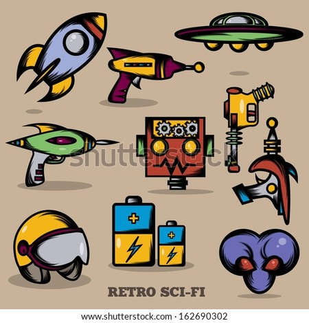 Retro Sci-fi - stock vector